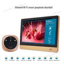 "IHome 4 Drahtlose WIFI Türspion Türklingel Intercom für Smart-Home-System, 7 ""1024*600 Touchscreen LCD Monitor + 2,0 mega Kamera"