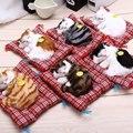 Lindo gatos dormindo simulação boneca animal de pelúcia brinquedo com som toy kids presente de aniversário decorações boneca stuffed toys cat mat