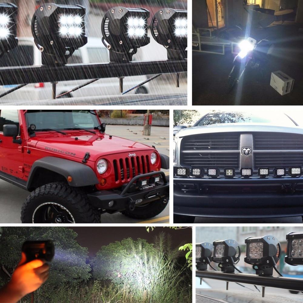 Safego 2pcs LED işiq çubuğu 18w 4Torpaq traktoru üçün yol 4WD - Avtomobil işıqları - Fotoqrafiya 6
