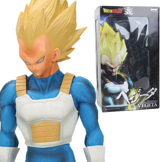 Us 27 11 17 Off 12 6inch Msp Dragon Ball Z Super Saiyan 3 Vegeta Pvc Action Figures Super Master Stars Piece Collectible Model Dolls Toys Blue In