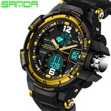 2019 New Male Fashion Sport Military Wristwatches SANDA Watch Men Luxury Brand 3ATM 30m Dive LED