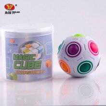 Yj горячая сферические magic cube игрушки новинка радуга мяч футбол кубики головоломки обучения и обучающие игрушки для детей kids-45