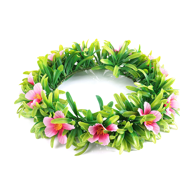 Mother And Daughter Garland With Thick Leaves Women Girl Hair Accessories Floral Hoop Headwear Moana Party Supplies Flower Crown