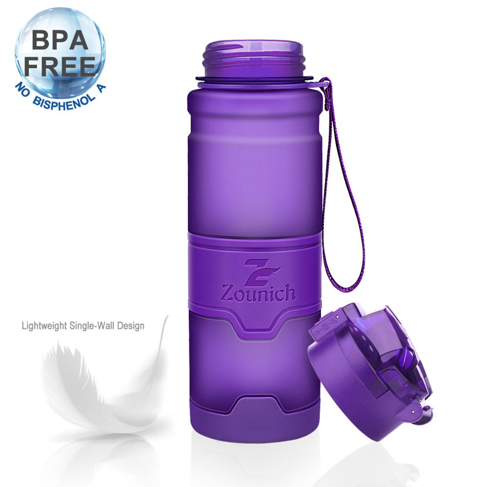 Zounich Water Bottle Plastic Drinkware Sports Water Bottle Leak Proof Seal Bottles Botellas Para Agua 400Ml 500Ml 700Ml 1000Ml|Water Bottles| |  - AliExpress