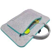 Fashion Wool Felt Universal 11 13 15 17 Inch Laptop Bag Case Briefcase Handlebag for Macbook Air  Pro Women