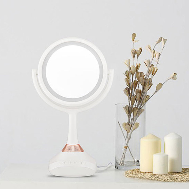 Zd Led Makeup Mirror Smart With Bluetooth Speaker Rechargeable Table Lamp Mirror Portable Make Up Tool 1x/5x Magnifier Xn131m Beauty & Health