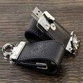 Logotipo personalizado Llavero de Cuero Unidad USB 2.0 4 gb 8 gb 16 gb 32 gb de Memoria Flash Drive de Alta Velocidad Pendrive (30 unids logo)