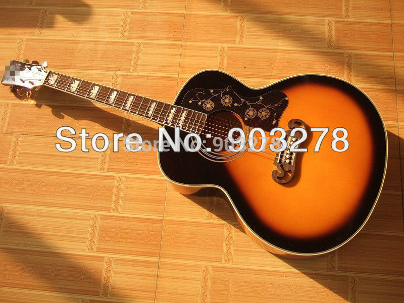 J200 Acoustic Guitar Sunburst  Popular And Hot Sell DA001 Free  Hardcase