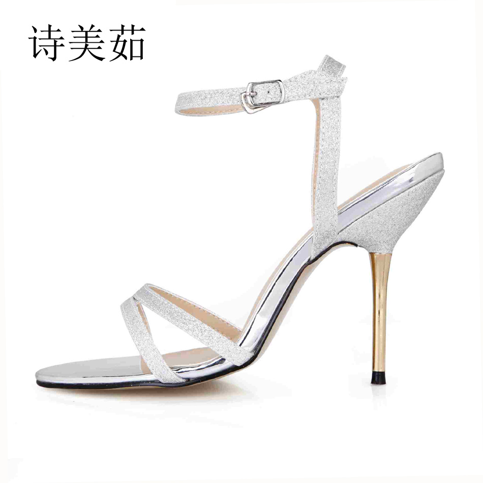 2016 Red Bottom Lady Women Sexy Wedding Party Open Toe Bridal Glitter Stiletto High Heel Shoes Sandals US Size 5.5-10.5 3845C-3e free shipping ep2107 ivory women s open toe stiletto high heel satin flowers pearls bridal wedding sandals