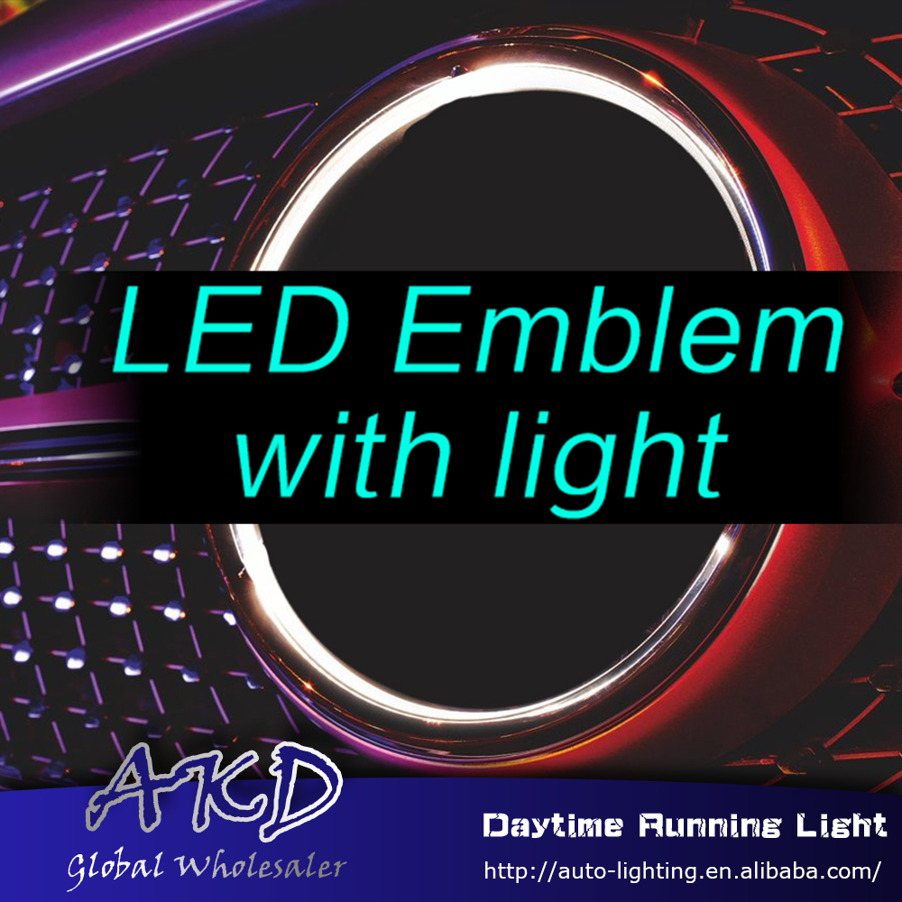 Car Styling for Mercedes-benz led emblem light for benz ML W166 2013-2016 ML320 ML350 ML400 ML450 led logo light embelem led drl front grille led emblem logo light 4 colors abs decorative grill lamp for f ord r anger t7 2016 2017 car styling
