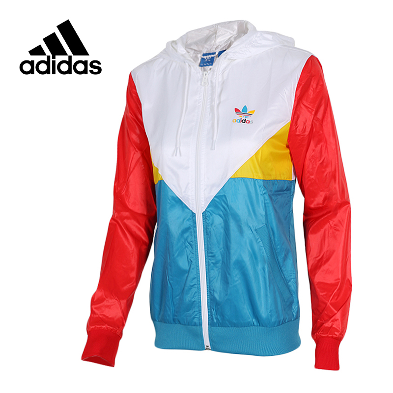 все цены на Original New Arrival Official Adidas Women's Jacket Outdoor Windproof Hooded Sportswear