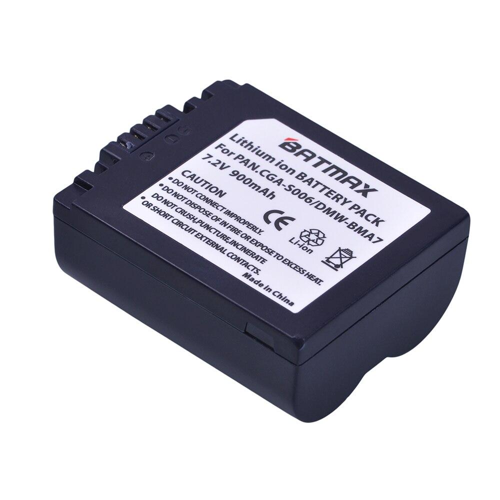Batmax 2pc CGA-S006 CGR CGA S006E S006 S006A BMA7 DMW BMA7 Camera Battery for Panasonic DMC FZ7 FZ8 FZ18 FZ28 FZ30 FZ35 FZ38