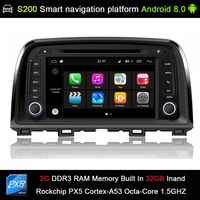 Android 8.0 system PX5 Octa 8 Core CPU 2G Ram 32GB Rom Car DVD Radio GPS Navigation for Mazda CX 5 CX5 Atenza 2012 2016