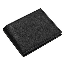 Casaul Small Wallet Male Leather Black Slim Short Wallets