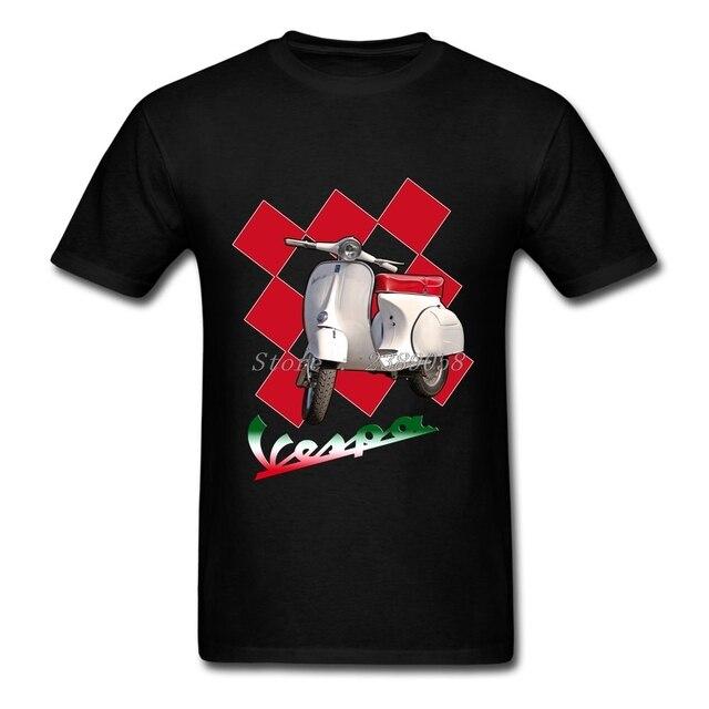 5cd3b1e0d5d New Brand Men Shirts Customized Vespa Shirts Italy Motocycle Short Sleeve  Adult Clothing Plus Size