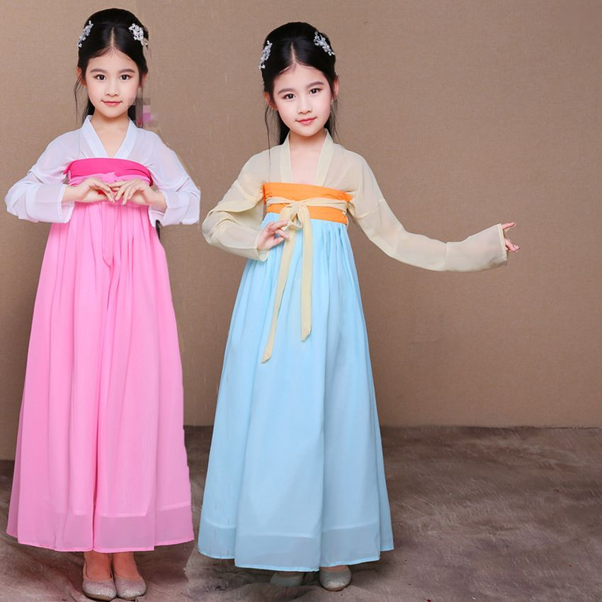 New Arrival China hanfu dress christmas dance costumes for kids traditional chinese tang ancient costume classical Korean Hanbok 2017 new arrival china traditional red