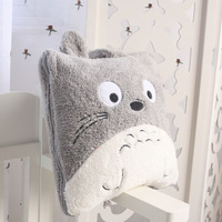 Super cute 145cm special anime funny totoro air condition nap plush blanket cushion toy novelty birthday gift 1 pc