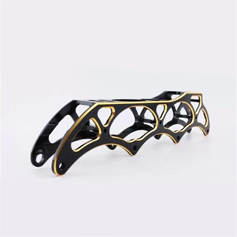 Prix pour Noir D'or Patin de Vitesse en ligne Cadre, en Alliage d'aluminium Dépliable Matériau, pour Course PowerSlide STS Patins, 4*110mm 4*100mm