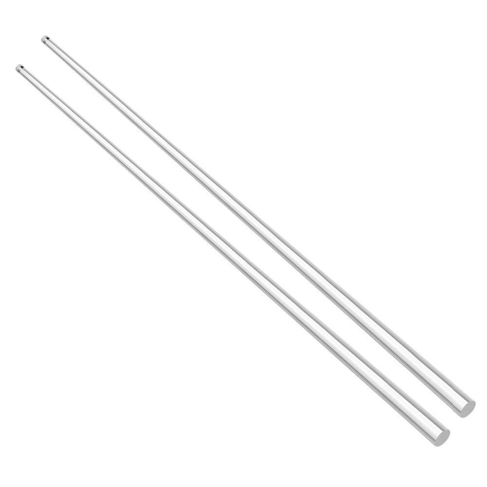 Uxcell 5/6mmx500mm Clear Round Shape Solid Acrylic Rod PMMA Extruded Bar For Lighting Accessories Handicraft Model Making 2Pcs