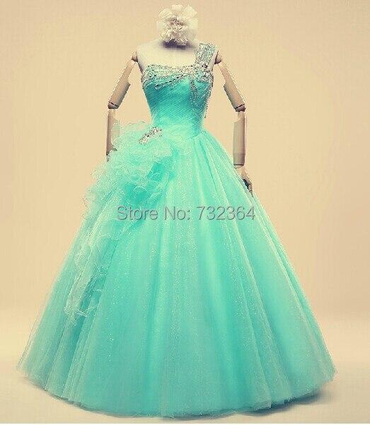 Medieval Renaissance Light Blue And White Gown Dress: Light Blue Rhinestone Beading Medieval Dress Sissi