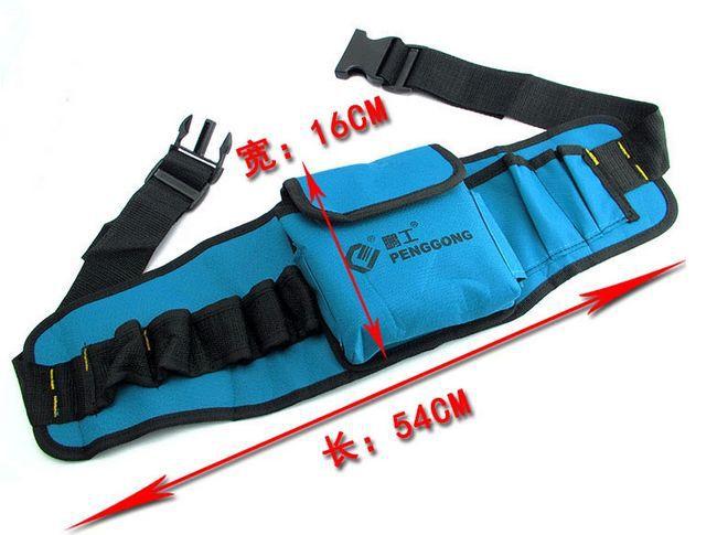 SunRed haute qualité bleu avec noir 8 poches électronique 2014 nouveau outils taille sac NO 102 livraison gratuite dans Armoires à outils de Outils