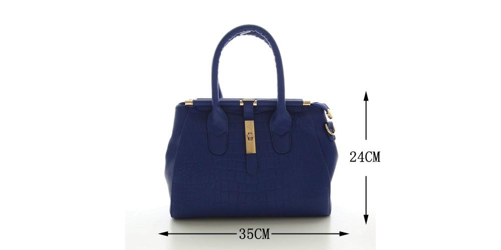 Alligator Women Bag Metal Lock Top-handle Bags Messenger Bags High Quality PU Leather Handbags Shoulder Bags Tote Herald Fashion