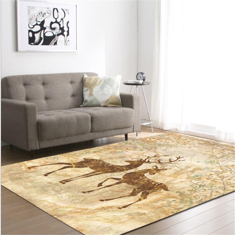 AOVOLL 2019 nuevo alce la alfombra de la Sala dormitorio alfombras ...