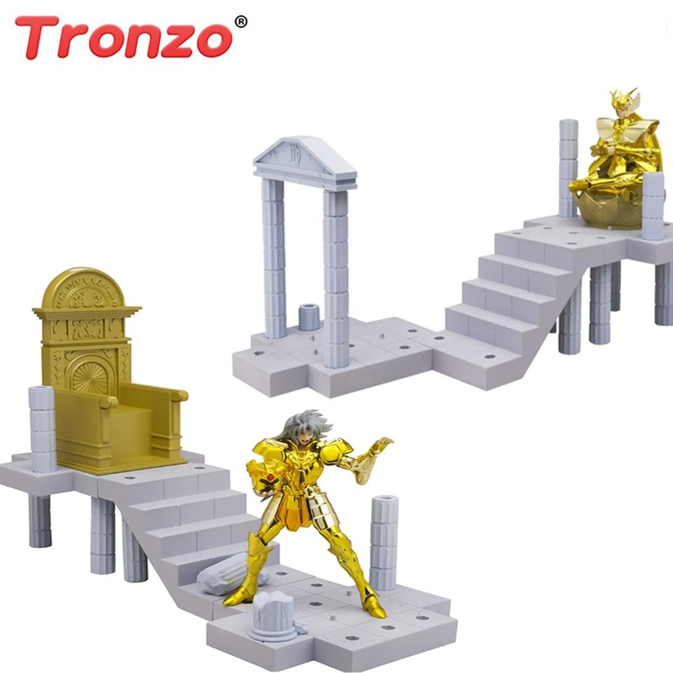 Tronzo Original Bandai Saint Seiya D.D. Panoramique or Saint Saga Shaka PVC Figurine modèle jouets DDP Saint Figurine cadeau