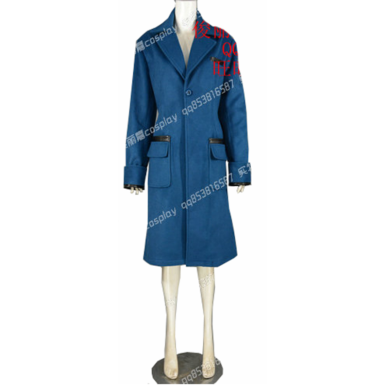 2018 High Quality Fantastic Beasts and Where to Find Them Newt Scamande Trench Cosplay Costume Men Suit Party Blazer Winter Coat