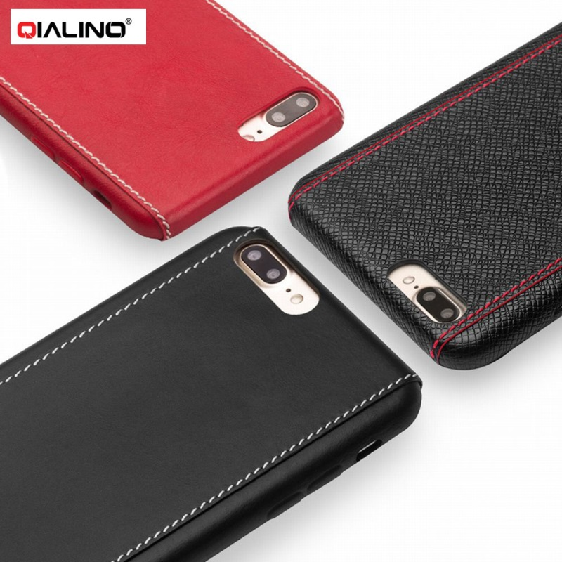 QIALINO for Apple i7 i7plus Case Funda Coque Genuine Leather Coated Hard Phone Cover for iPhone7Plus iPhone7 Smartphone Shell ...