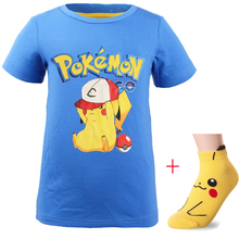 1ec8e980f New Baby Boys Summer Pokemon Go pikachu Shirt Kids Clothes Girls T-shirt  Short Sleeves