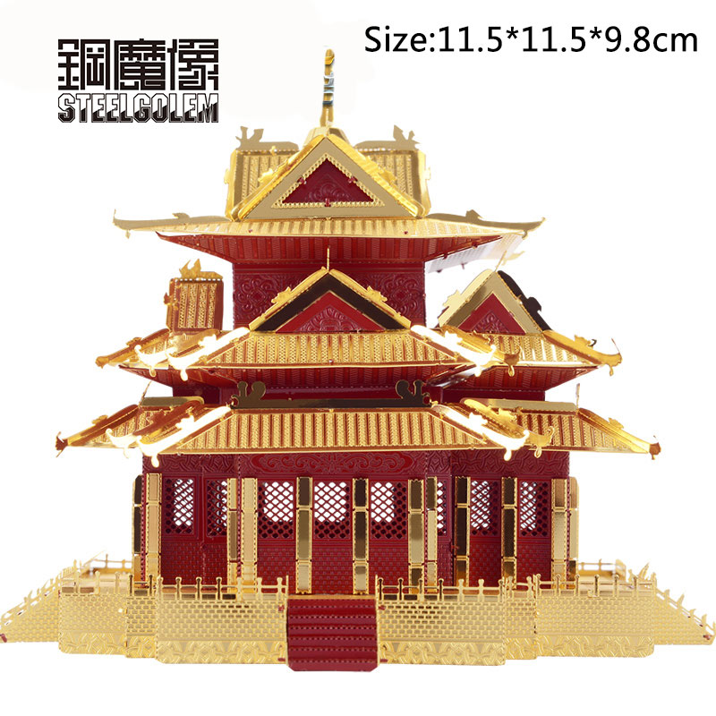 3D Metal Puzzles Model For Adult Kids Jigsaw The Watchtower Of Forbidden City Educational Toy/juguetes Collection Birthday Gifts star war 3d metal puzzle first order special forces tie fighter silver puzzles jigsaw model adult child kids educational toy