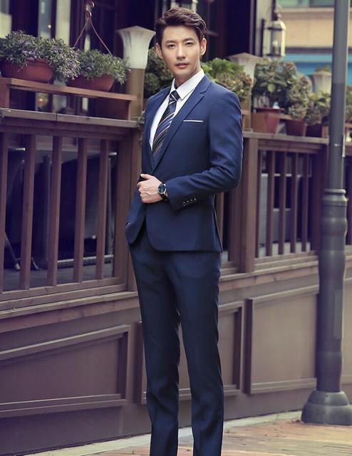 jacket + pants men\'s suit business attire suits two piece high ...