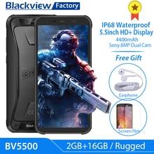 Blackview BV5500 IP68 防水携帯電話 5.5 インチ 18:9 hd + ipsアンドロイド 8.1 3 グラム携帯電話 8.0MPカメラgps頑丈なスマートフォン