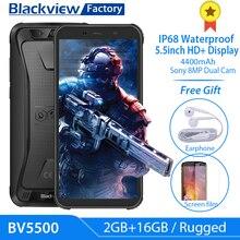 "Blackview móvil BV5500, 3G, 5,5 "", 18:9 HD + IPS, 8,1 Android, cámara de 8.0MP, GPS, resistente al agua IP68"
