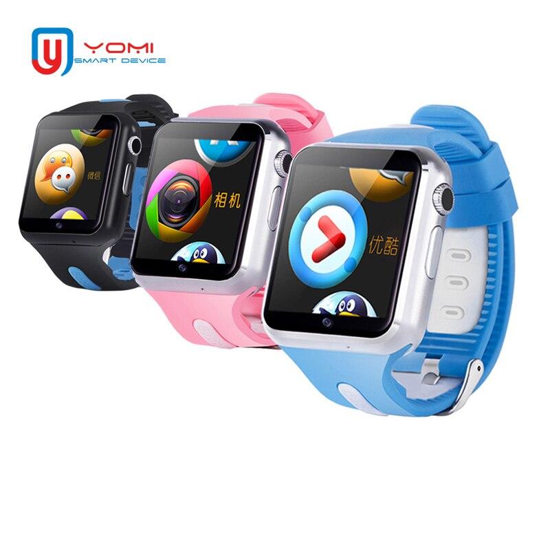 V5W reloj inteligente Android 1,54 ''Color pantalla Bluetooth WIFI Monitor de salud 3G Smart Watch soporte de tarjeta SIM para bebé niños