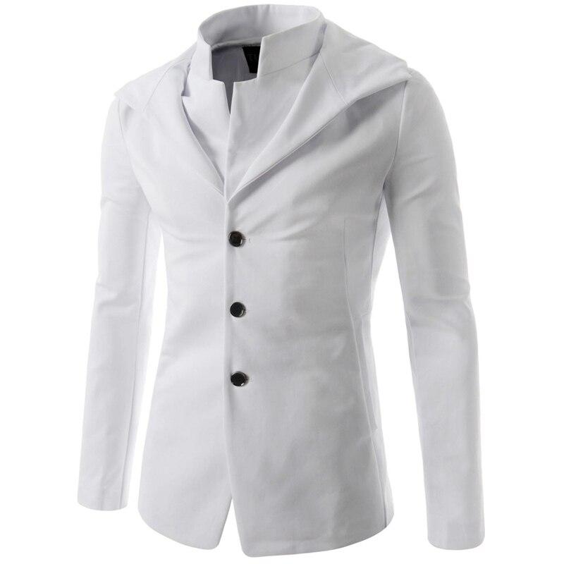 New White Blazer Men 2016 Fashion Design Mens Slim Fit