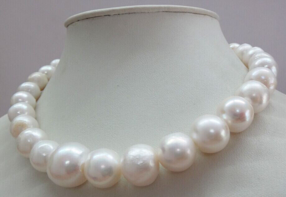 classic huge 12-14mm south sea white pearl necklace 18inch > jewerly free shipping наволочки other 45 45 18inch