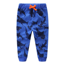 New Designed Baby Boys Pants Kids Cute Cartoon with Applique Lovely Dinosaur Spring Autumn Top Brand