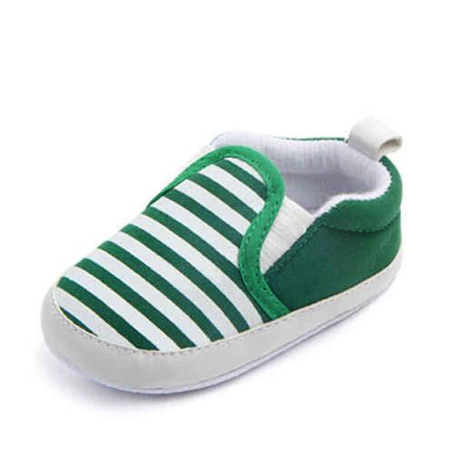 الوليد الطفل أطفال الرضع الأولى حمالات مخطط كلاسيكي بنين أحذية المتسكعون حذاء طفل ل 0-18 متر