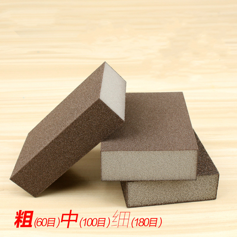 Sponge Sand Block Polishing Wood Furniture Jade Wenwan Metal Derusting Polishing Sandpaper