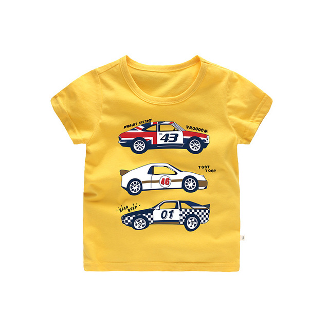 93d91d3d Psyduck Automobile Race Print Short Sleeve For Boys Children Tees Cartoon  Car Pattern Kids Clothes 2018 New T shirt