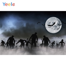 Yeele Halloween Party Backdrop Night Moon Bat Zombie Photography Personalized Photographic Backgrounds For Photo Studio