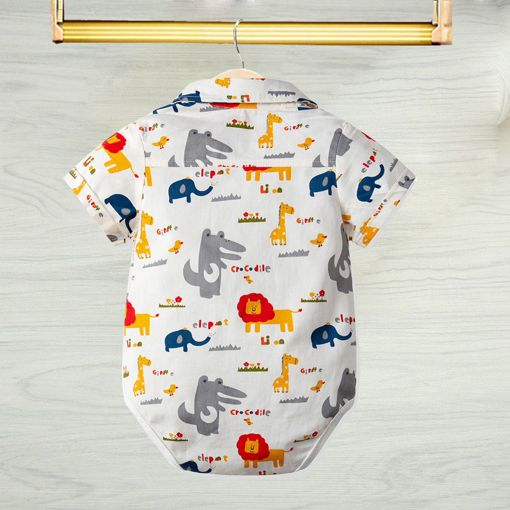 Baby 39 s Short Sleeved Cartoon Coating For 6M 3Years in Rompers from Mother amp Kids