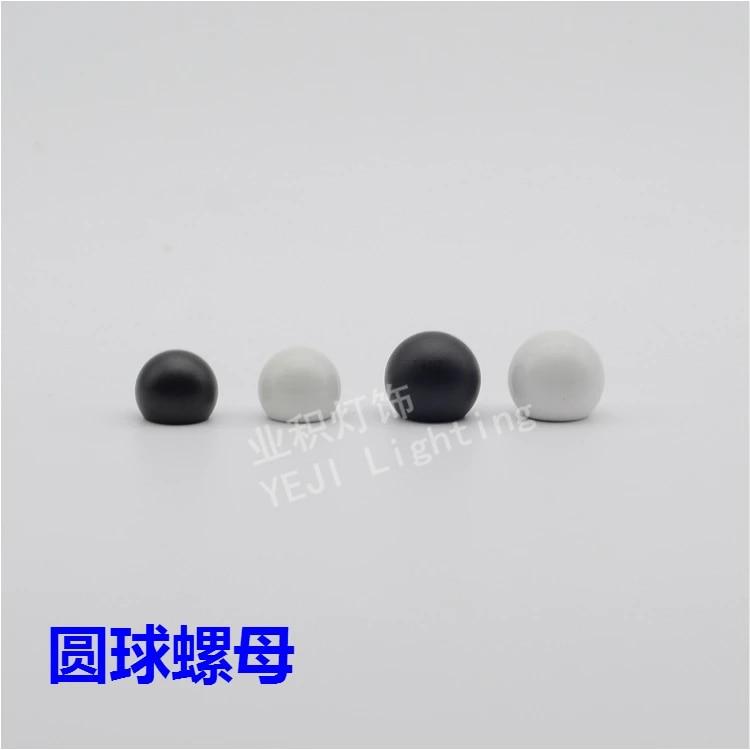 Black And White Spherical Nut Ball Shape Nut Decorative Nuts Screw 10mm Inner Teeth Lighting Accessories Diy Accessories Diy Screw 10mmteeth Light Aliexpress