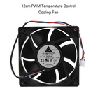 120mm DC 12V 1.6A PWM Ball Cooling Fan 4pin PC Computer Cooler Fan 4000RPM PWM Temperature Control Mine Cooling Fan for CPU