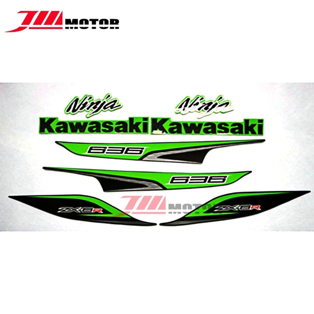 New arrival motorcycle whole vehicle 3m high quality decals stickers for kawasaki ninja zx6r zx