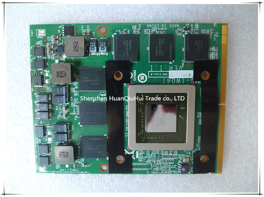 GTX 560 M N12E-GS-A1 1.5G Placa De Vídeo VGA para MSI MS-1W041 16F1 16F2 1656 1727 GX740 GX640 GT660 GT780 GT663 GX660 GT680 GT683