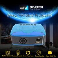 Gigxon U20 Home Portable LED Projector AV TF HDMI Micro USB Media Player Mini Projector for TV Box Laptop PC USB Flash Drive