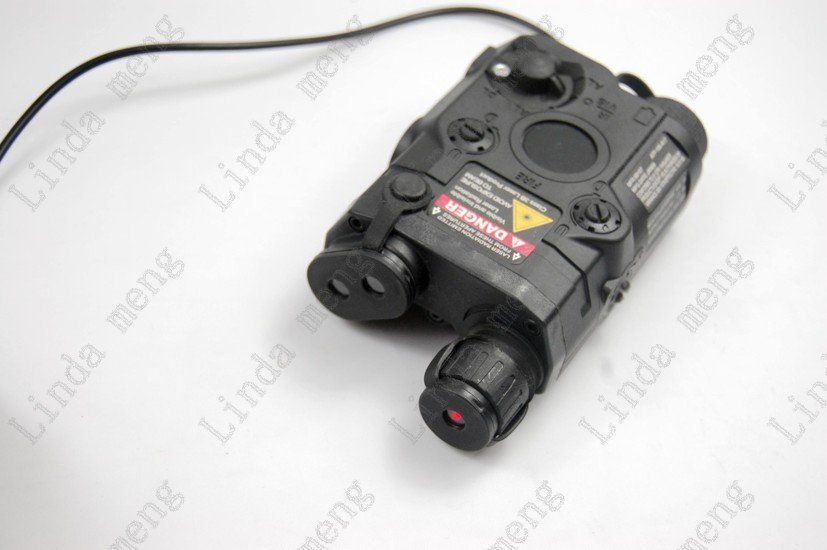 Tactical Red Laser and Led Flashlight Black PEQ-15